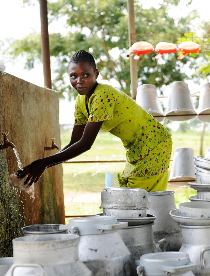 Smallholder dairy farmer in Africa