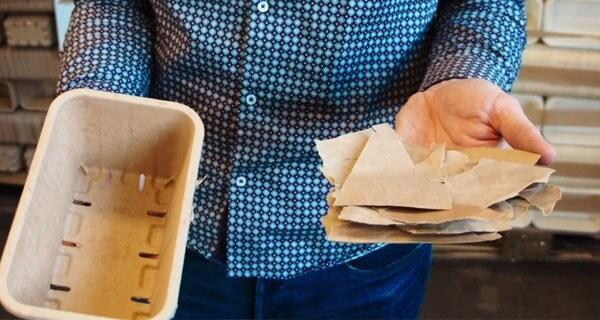 PBiopack;producten in papieren bakjes
