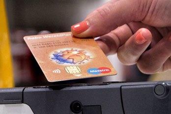 Contactloos betalen met bankpas