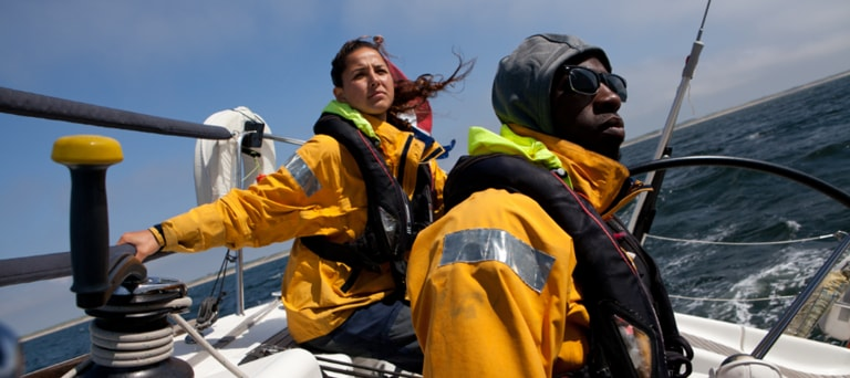 Sea Rangers in a sailing boat